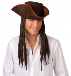 Piratenhut mit Dreadlocks