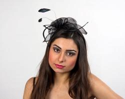 Haarreif Fantasie für Fasching Farbe schwarz