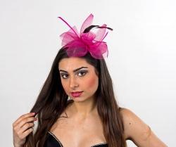 Haarreif Fantasie für Fasching Farbe pink
