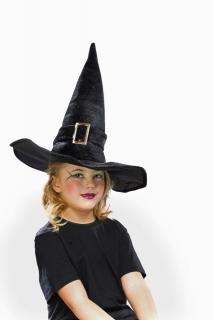 Kinder-Hexenhut aus Samt, schwarz Größe ca. 55