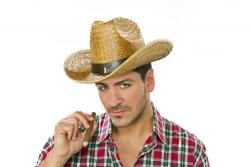 Strohhut Cowboyhut DALLAS