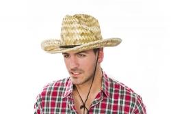 Cowboyhut Strohhut aus Naturstroh