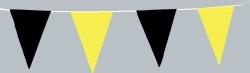 10-m-Wimpelkette gelb/schwarz