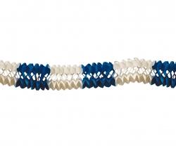 10-m-Großraumgirlande blau/weiß
