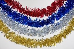 Glitzergirlande 3m, diverse Farben