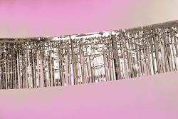 6-m-Folien-Fransengirlande, silber
