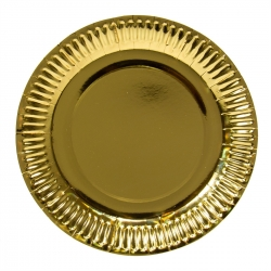 Pappteller 8er Set gold-metallic