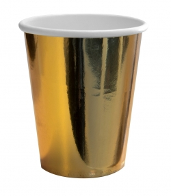 Pappbecher 8er Set gold-metallic