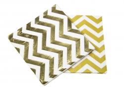 Servietten 20er Set gold-metallic, 33x33 cm