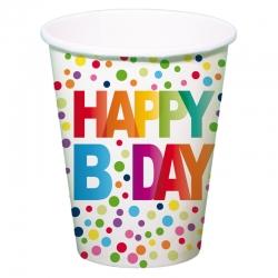 Pappbecher Happy Birthday im Set 8 Stk.