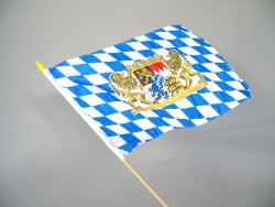 Freistaat Bayern, ca. 30 x 45 cm, mit Stab