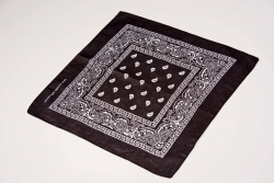 Bandana bedruckt, ca. 55 x 55 cm, schwarz