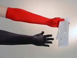 Satinhandschuhe, 50 cm, rot