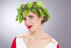 Lorbeerkranz mit grünen Blättern