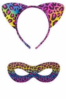 Panther-Set: Kopfbügel und Augenmaske