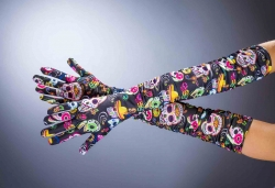 Handschuhe Tag der Toten, ca. 50 cm