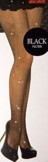 Netzstrumpfhose mit Glittereffekt, schwarz