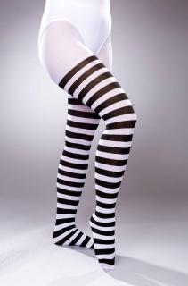 Strumpfhose schwarz/weiß gestreift