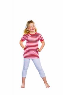 Kinder T-Shirt, rot/weiß gestreift