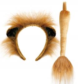 Löwen-Set 2-tlg. Haarreif und Schwanz