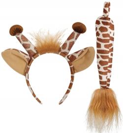 Giraffen-Set 2-tlg. Haarreif und Schwanz