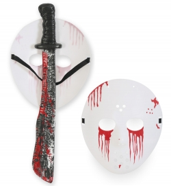 Horror-Set, 2-tlg. (Maske + Machete)