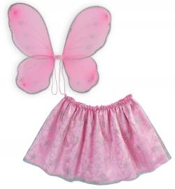 Fee, Schmetterling, Fabelwesen Set pink 2-tlg.Rock Flügel