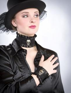Schmuck Set Totenkopf bestehend aus Halsband und Armband