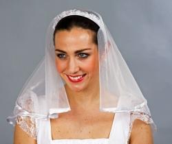 Brautschleier Harreif mit Schleier