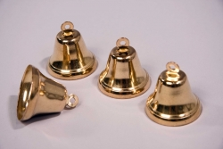 Glocken 4er Set, vermessingt