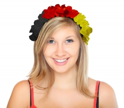 Blüten Haarreif in National Farben Weltmeisterschaft