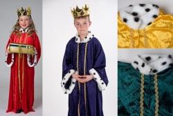 Sternsinger Kinder Kostüm Königsmantel