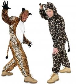 Leopard oder Giraffe Overall Tierkostüm